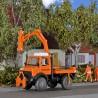 Camion Unimog avec débroussailleuse sur bras télescopique  -HO-1/87-KIBRI 15004