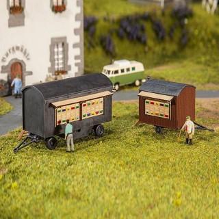 2 roulottes à ruches maquette à monter-HO-1/87-FALLER 180385