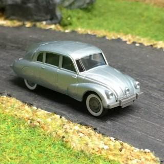 Tatra 87 argent métallisé -HO-1/87-Wiking 082749