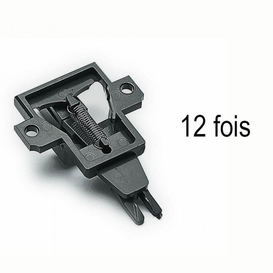 12 support d'attelage à élongation pour wagon 2 essieux  -HO-1/87-ROCO 40343