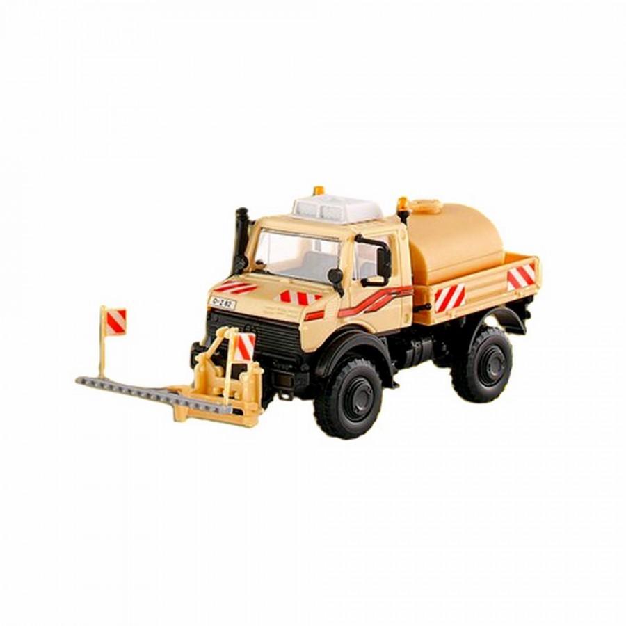 Camion Unimog avec citerne et épandage  -HO-1/87-KIBRI 14983