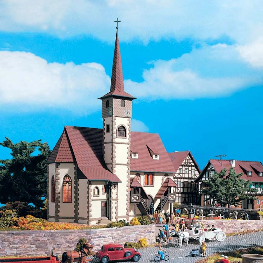 Eglise de village maquette à monter -HO-1/87-VOLLMER 43769
