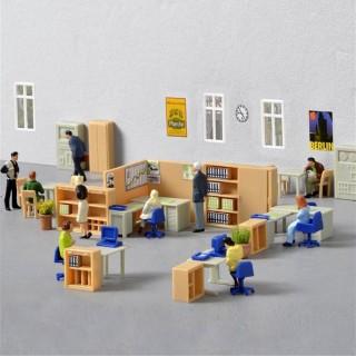 Set d'aménagement de bureau mobilier -HO-1/87-KIBRI 38654
