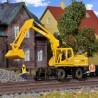 Pelle Atlas avec position sur rails pour entretien des voies -HO-1/87-KIBRI 16312