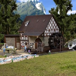 Vieux moulin à eau maquette à monter -HO-1/87-VOLLMER 43687