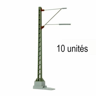 10 mats de ligne pour caténaires métal -HO-1/87-VIESSMANN 41103