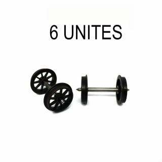 6 essieux Ocem roues à rayons D1050 -HO-1/87-REE XB20006