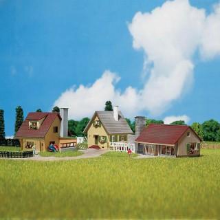 3 maisons individuelles maquette à monter -N-1/160-FALLER 232221