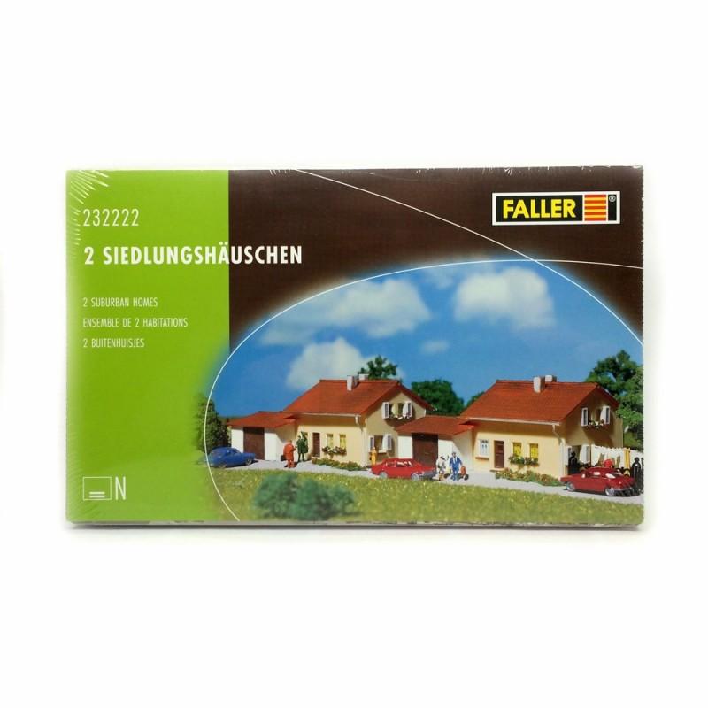 maisons individuelles échelle N Faller 232222 2 pavillons