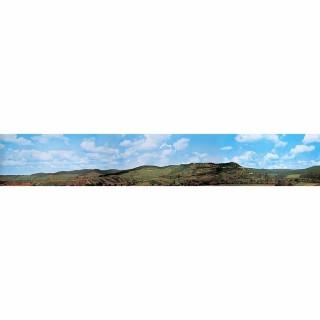 Décor de fond campagne et collines  -N-1/160 et HO 1/87-FALLER 180515
