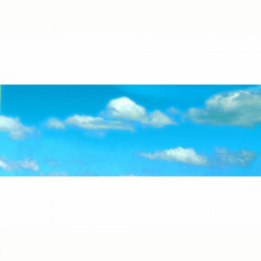 Décor de fond ciel bleu avec nuages  -N-1/160 et HO 1/87-VOLLMER 46105