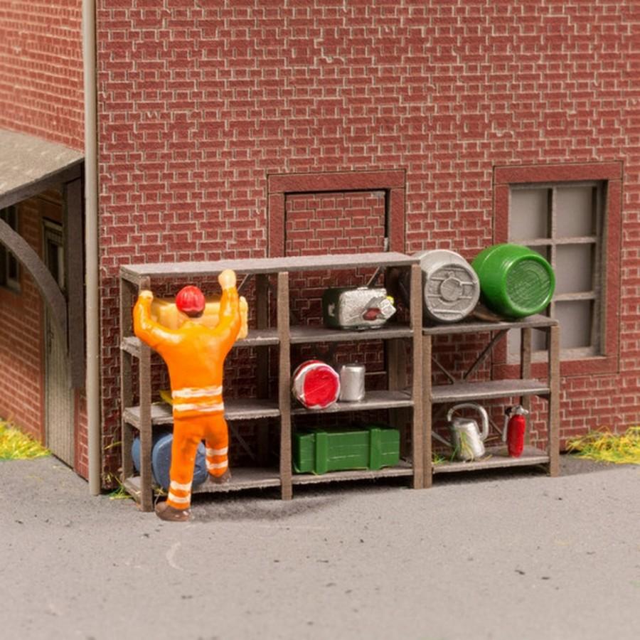 6 étagères industrielles maquette à monter -HO-1/87-NOCH 14203