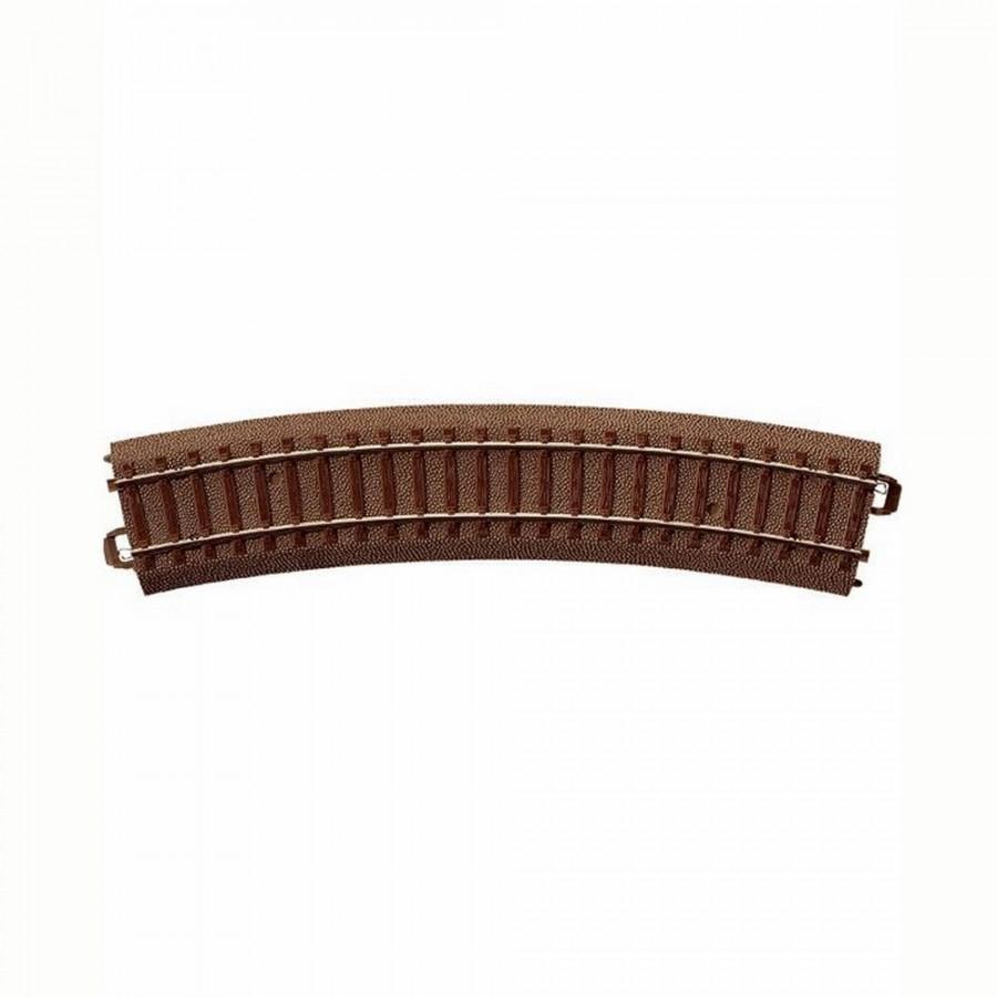 Rail courbe R2 : 437.5mm à 24.3 degrés -HO-1/87-TRIX 62224