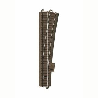 Aiguillage long droit droit 236.1mm R9 :1114.6mm 12.1 degré -HO-1/87-TRIX 62712