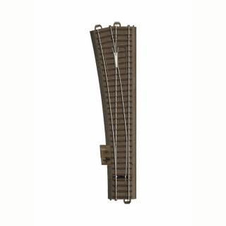 Aiguillage long droit gauche 236.1mm R9 :1114.6mm 12.1 degré -HO-1/87-TRIX 62711
