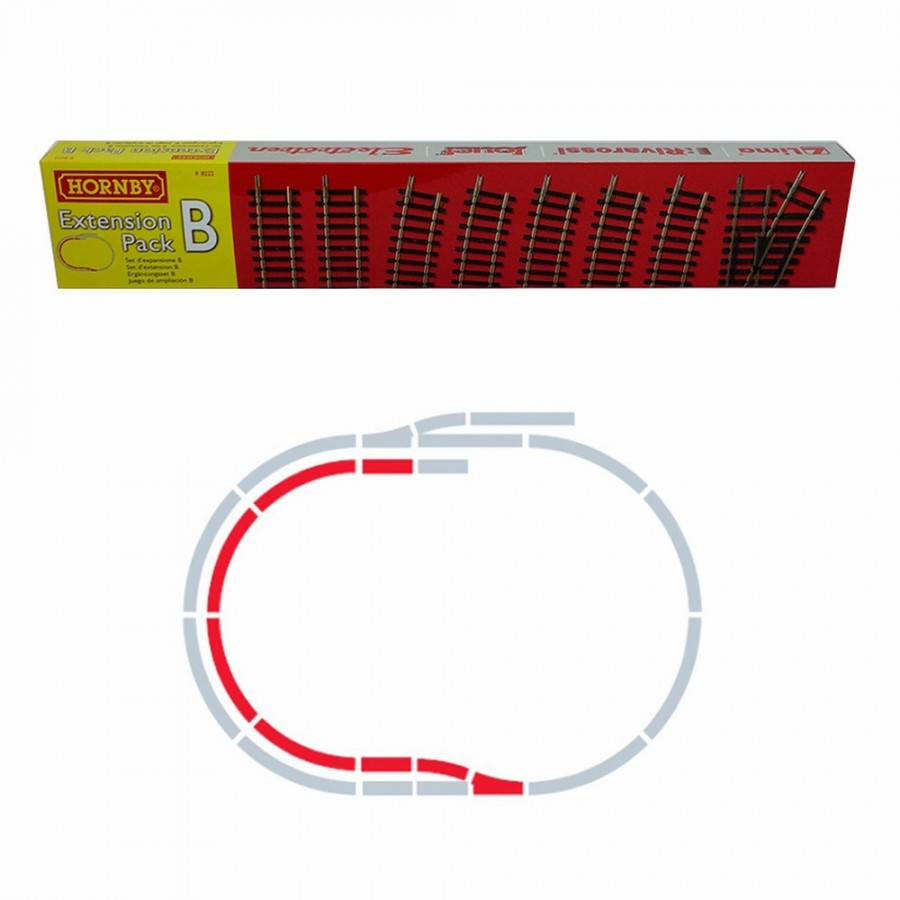 Set d'extension B rails Jouef / Hornby  -HO-1/87-HORNBY JOUEF R8222
