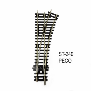 Rail Setrack aiguillage droit droit 168mm 22.5° code 100-HO-1/87-PECO ST-240