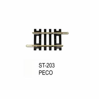 Rail Setrack droite 41mm code 100-HO-1/87-PECO ST-203