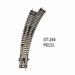 Rail Setrack aiguillage courbe droit R2 et R3 11.25° code 100-HO-1/87-PECO ST-244