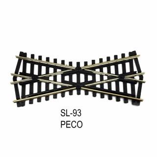 Rail Streamline croisement  court 127mm 24 degrés code 100-HO-1/87-PECO SL-93