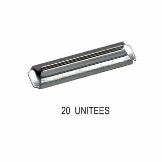 20 éclisses métallique pour rail profi -N-1/160-FLEISCHMANN 9404