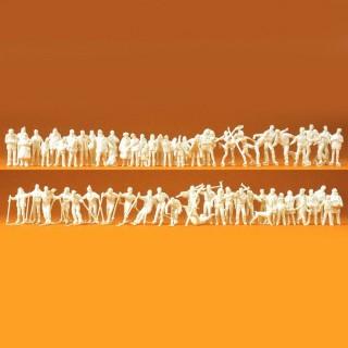 65 personnages aux sports d'hiver skieurs, patineurs, etc... HO-1/87-PREISER 16347