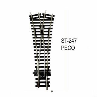 Rail Setrack aiguillage symétrique 170mm R 438mm code 100-HO-1/87-PECO ST-247