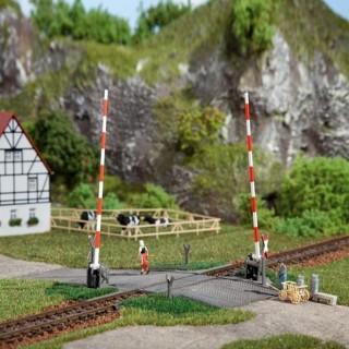 Passage à niveau simple une voie manuel- ho-1/87-AUHAGEN 41604