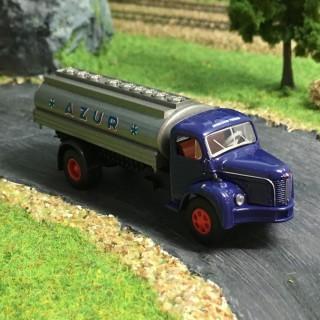 Camion Berliet GLR 8 citerne Azur -HO-1/87-BREKINA 2614