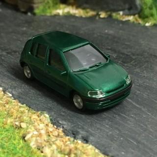 Renault Clio 2 vert épicéa métallisé -HO-1/87-AWM 2277