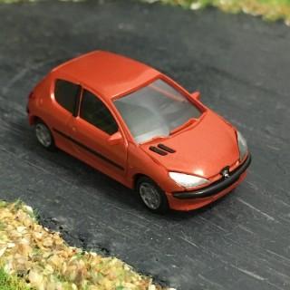 Peugeot 206 Tangerine 3 portes -HO-1/87-AWM SAI 2165
