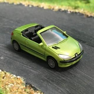 Peugeot 206 CC vert Maori métallisé cabriolet -HO-1/87-AWM SAI 2196