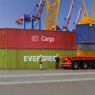 6 grands conteneur 40 pieds maquette à monter -HO-1/87-KIBRI 10922