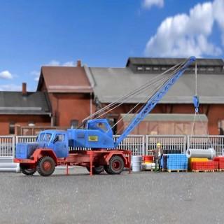Camion grue Magirus maquette à monter -HO-1/87-KIBRI 11290