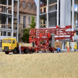 Camion Man avec grue de chantier Liebherr SK 20 maquette-HO-1/87-KIBRI 13025