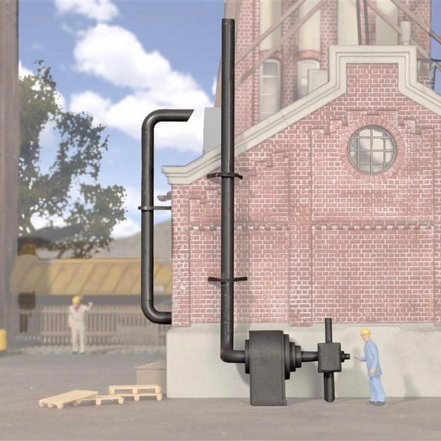 Accessoires industrielles aération maquette à monter -HO-1/87-KIBRI 38609