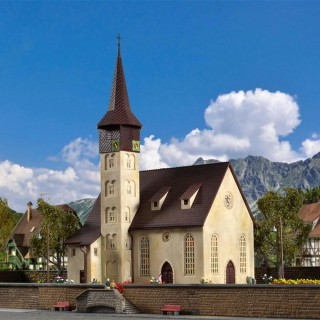 Eglise maquette à monter -HO-1/87-VOLLMER 49210