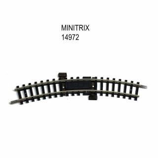 Rail courbe d'alimentation R1 30 degrés avec antiparasite -N-1/160-MINITRIX 14972