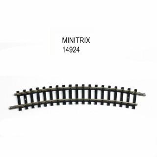 Rail courbe R2 228.2mm 24 degrés -N-1/160-MINITRIX 14924