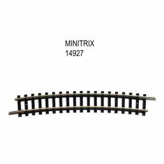 Rail courbe R4 362.6mm 15 degrés -N-1/160-MINITRIX 14927