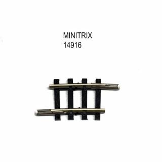 Rail courbe R1 194.6mm 6 degrés -N-1/160-MINITRIX 14916