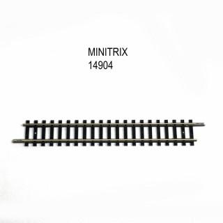 Rail petite droite 104.2mm -N-1/160-MINITRIX 14904