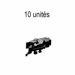10 attelages profi pince fixation coulissante-HO-1/87-FLEISCHMANN 6570