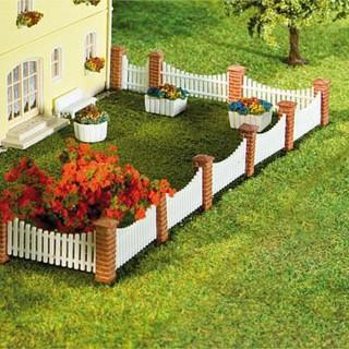 Clôture de jardin poteaux briques lames ajourées-N-1/160-FALLER 272409