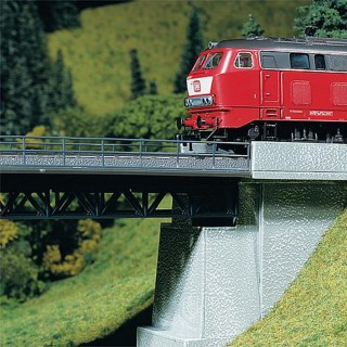 Garde corps type fer pour pont ferroviaire 976mm-N-1/160-FALLER 272404