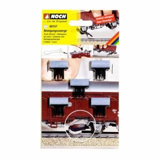 Patins nettoyeurs de voies pour wagon simple essieu -N-1/160-NOCH 60158