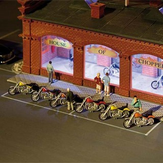 6 motos maquette à monter -HO-1/87-FALLER 180603