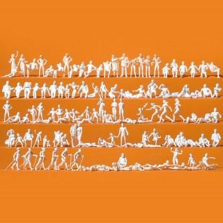 120 personnages à peindre thème de la plage HO-1/87-PREISER 16357