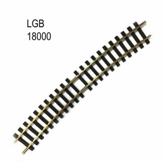 Rail courbe R5 15 degrés train de jardin -G-1/28-LGB 18000