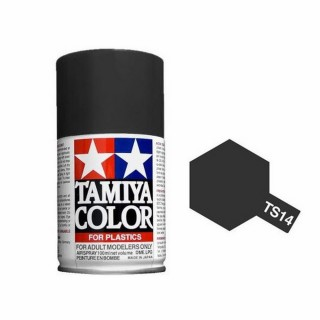 Noir Brillant Spray de 100ml-TAMIYA TS14